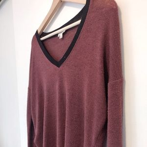 2 for 40: WILFRED Red/ burgundy sweater